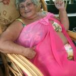 Grandma Libby Loves stripping for horny men