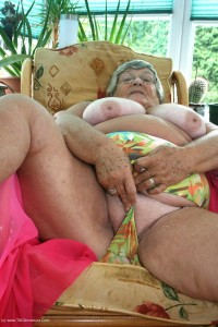 Grandma Libby Loves stripping for horny men