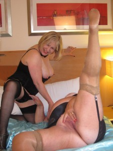 Hot lasbian action with two naughty grannies