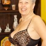 Hot mature milf does erotic striptease