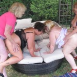 Hot romp with 4 milf's
