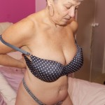 Kinky granny in her sexy outfit