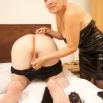 Mistress tortures her slaves cock