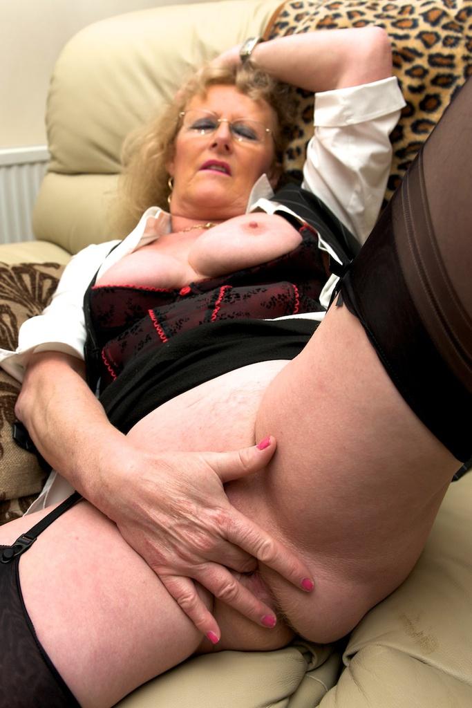 Are Bbws grannies stockings dirty spread